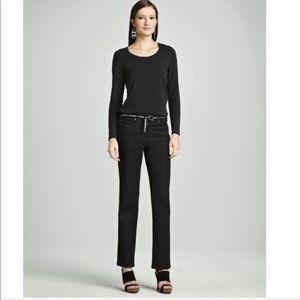 NWT Eileen Fisher || Black Rivet Straight Jeans 6P